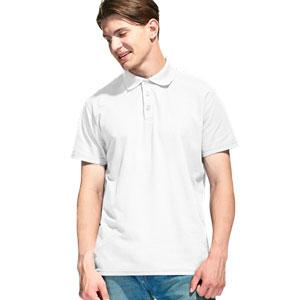 Рубашка поло мужская 04 Stan Premier цвет 10 Белый white