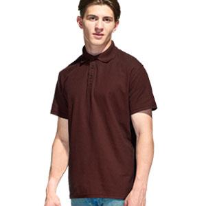 Рубашка поло мужская 04 Stan Premier цвет 107 Темно-шоколадный dark chocolate