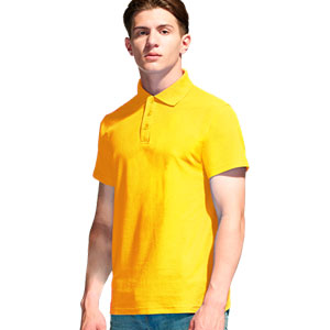 Рубашка поло мужская 04 Stan Premier цвет 12 Желтый yellow