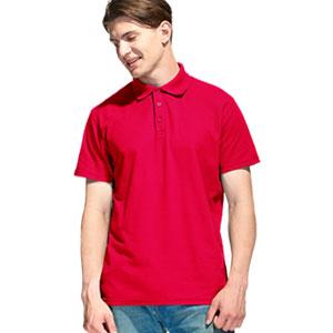 Рубашка поло мужская 04 Stan Premier цвет 14 Красный red