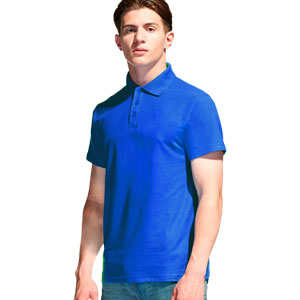 Рубашка поло мужская 04 Stan Premier цвет 16 Синий blue