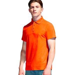 Рубашка поло мужская 04 Stan Premier цвет 28 Оранжевый orange
