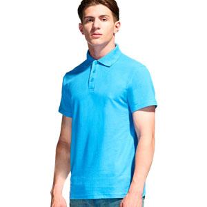 Рубашка поло мужская 04 Stan Premier цвет 32 Бирюзовый turquoise