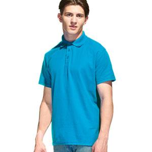Рубашка поло мужская 04 Stan Premier цвет 40 Лазурный azure