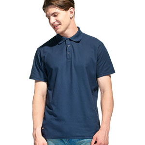Рубашка поло мужская 04 Stan Premier цвет 46 Темно-синий dark blue
