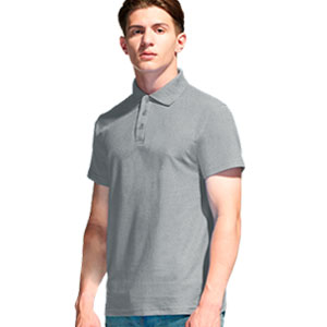 Рубашка поло мужская 04 Stan Premier цвет 50 Серый меланж gray melange
