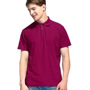 Рубашка поло мужская 04 Stan Premier цвет 66 Винный