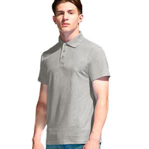 Рубашка поло мужская 04 Stan Premier цвет 72 Светло-серый light gray