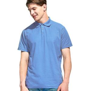 Рубашка поло мужская 04 Stan Premier цвет 76 Голубой blue