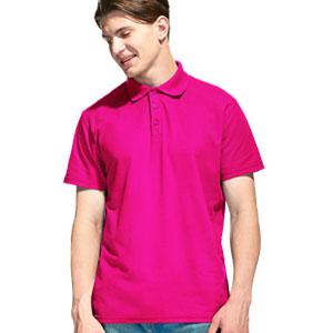 Рубашка поло мужская 04 Stan Premier цвет 92 Маджента