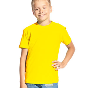 Футболка однотонная детская 06 Stan Kids цвет 12 Желтый yellow