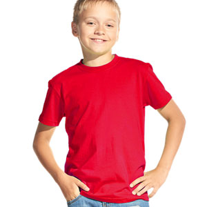 Футболка однотонная детская 06 Stan Kids цвет 14 Красный red