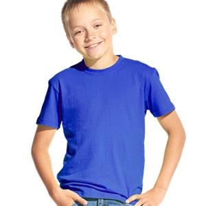 Футболка однотонная детская 06 Stan Kids цвет 14 Синий blue
