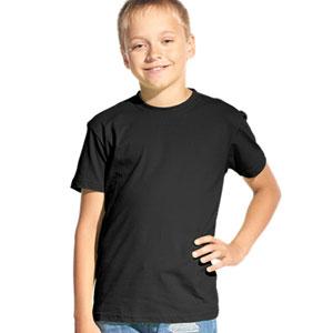 Футболка однотонная детская 06 Stan Kids цвет 20 Черный black