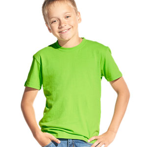 Футболка однотонная детская 06 Stan Kids цвет 26 Ярко-зеленый bright-green