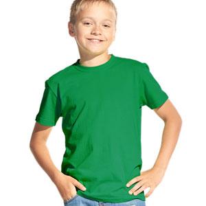 Футболка однотонная детская 06 Stan Kids цвет 30 Зеленый green