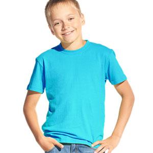 Футболка однотонная детская 06 Stan Kids цвет 32 Бирюзовый turquoise