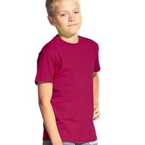 Футболка однотонная детская 06 Stan Kids цвет 66 Винный wine