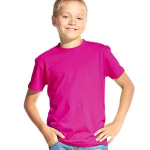 Футболка однотонная детская 06 Stan Kids цвет 92 Маджента magenta