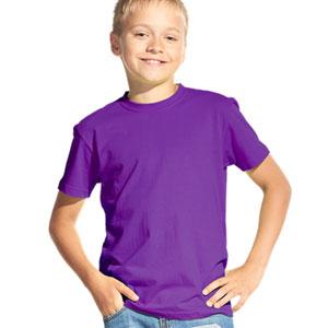 Футболка однотонная детская 06 Stan Kids цвет 94 Фиолетовый purple