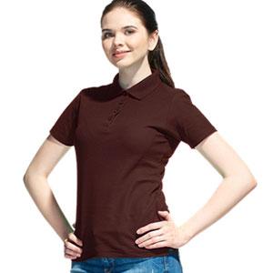 Рубашка поло женская 04 Stan Women цвет 107 Темно-шоколадный dark chocolate