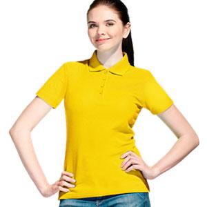 Рубашка поло женская 04 Stan Women цвет 12 Желтый yellow