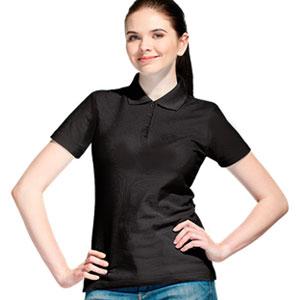 Рубашка поло женская 04 Stan Women цвет 20 Черный black