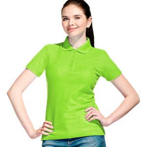 Рубашка поло женская 04 Stan Women цвет 26 Ярко-зеленый bright-green