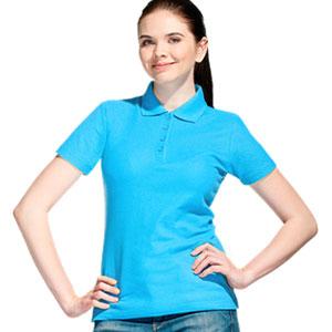 Рубашка поло женская 04 Stan Women цвет 32 Бирюзовый turquoise