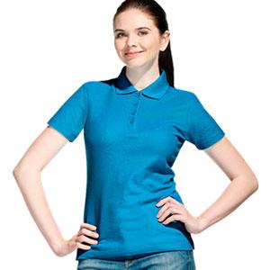 Рубашка поло женская 04 Stan Women цвет 40 Лазурный azure