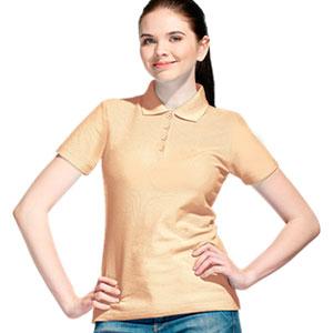 Рубашка поло женская 04 Stan Women цвет 54 Бежевый