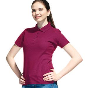 Рубашка поло женская 04 Stan Women цвет 66 Винный