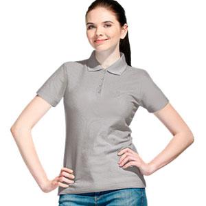 Рубашка поло женская 04 Stan Women цвет 72 Светло-серый light gray