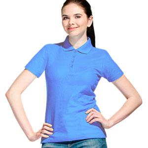 Рубашка поло женская 04 Stan Women цвет 76 Голубой blue