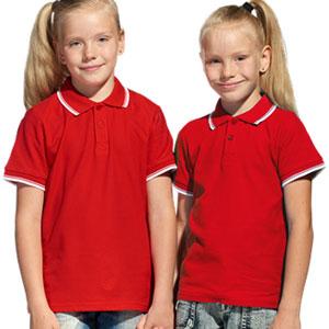 Рубашка поло детская 04TJ Stan Trophy Junior цвет 14 Красный red