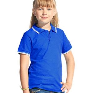 Рубашка поло детская 04TJ Stan Trophy Junior цвет 14 Синий blue