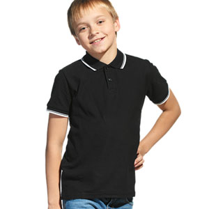 Рубашка поло детская 04TJ Stan Trophy Junior цвет 20 Черный black