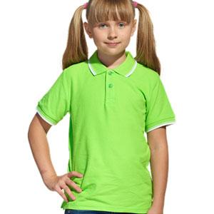 Рубашка поло детская 04TJ Stan Trophy Junior цвет 26 Ярко-зеленый bright-green