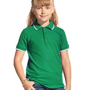 Рубашка поло детская 04TJ Stan Trophy Junior цвет 30 Зеленый green