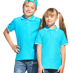 Рубашка поло детская 04TJ Stan Trophy Junior цвет 32 Бирюзовый turquoise