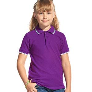 Рубашка поло детская 04TJ Stan Trophy Junior цвет 94 Фиолетовый purple