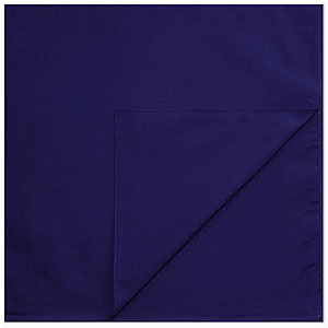 Однотонные банданы на голову платки-косынки с логотипом на заказ цвет Темно-синий dark blue