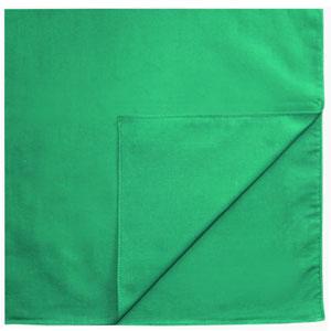 Однотонные банданы на голову платки-косынки с логотипом на заказ цвет Зеленый green