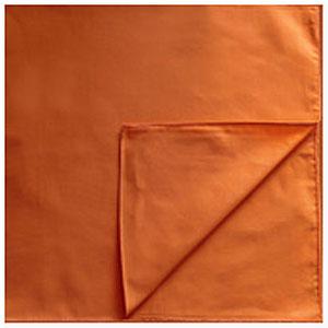 Однотонные банданы на голову платки-косынки с логотипом на заказ цвет Оранжевый orange
