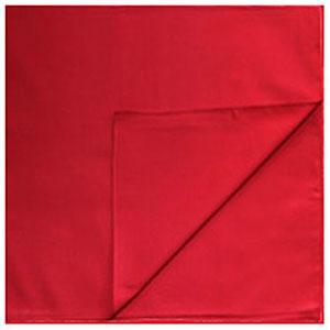 Однотонные банданы на голову платки-косынки с логотипом на заказ цвет Красный red