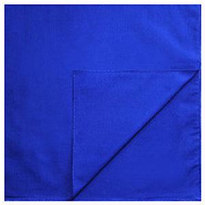 Однотонные банданы на голову платки-косынки с логотипом на заказ цвет Синий blue