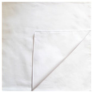 Однотонные банданы на голову платки-косынки с логотипом на заказ цвет Белый white