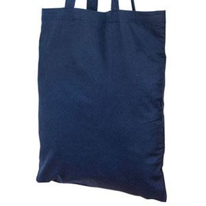 Сумка под нанесение логотипа ткань, лен, С30 35x40 цвет Синий