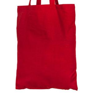 Сумка под нанесение логотипа ткань, лен, С30 35x40 цвет Красный